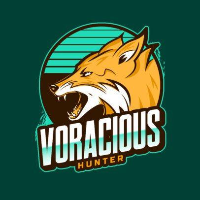 Sports Squad Logo Generator featuring a Wild Fox 2975y
