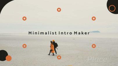 Minimalist Intro with Circular Motion Graphics 329