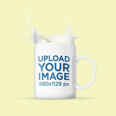 11 oz Mug Mockup with Customizable Splashing Coffee 2957-el1
