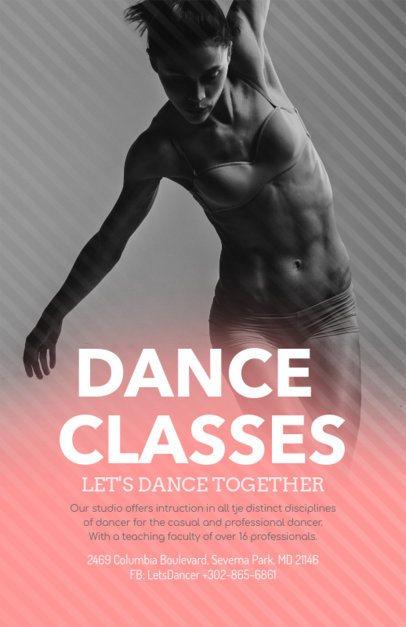 Modern Flyer Design Template for Dancing Lessons 139b