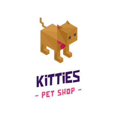 Pet Shop Logo Maker Featuring Isometric Animal Graphics 922-el1
