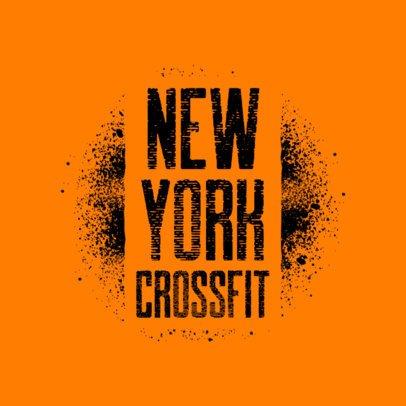 Graffiti Stencil Logo Generator for a Crossfit Gym 2997c