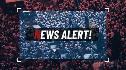 Slideshow Maker for a Breaking News Broadcast 821