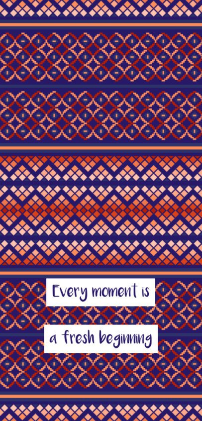 Phone Case Design Creator with a Geometric Pattern and an Inspiring Phrase 2307e