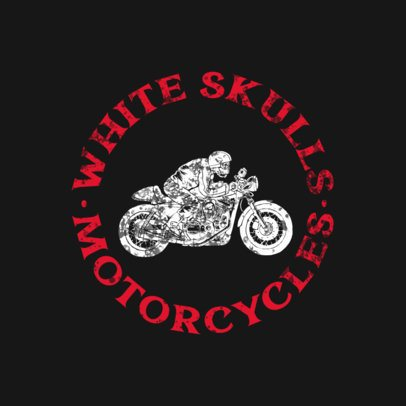 Motorcycle Logo Template with a Biker Illustration 923b-el1