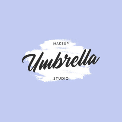 Makeup Studio Logo Template with a Paint Smudge Icon 915c-el1