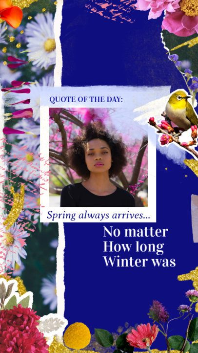 Instagram Story Template Featuring a Spring-Related Quote 2308d
