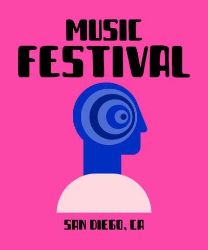 Music Festival T-Shirt Design Template 929b-el1