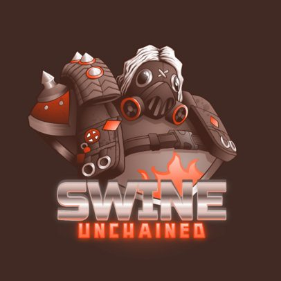 Logo Generator for Gamers Featuring an Overwatch-Inspired Tank Character 3000h