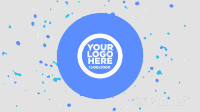 Intro Maker for a Logo Reveal Featuring a Spinning Liquid Motion Graphics 341