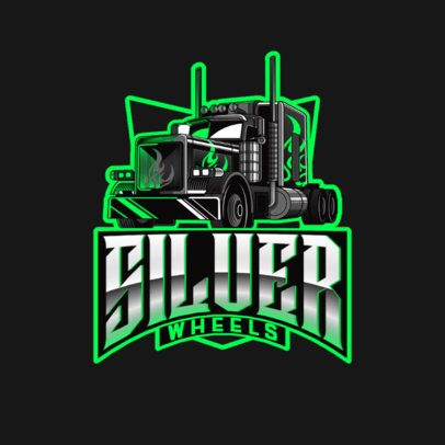 Trucking Logo Maker Featuring an Aggressive Style 3014