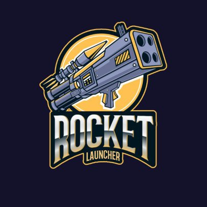 Battle Royale Logo Maker for a Gaming Squad with a Quad-Rocket Launcher 3019e