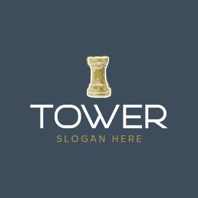 Logo Generator Featuring a Tower Chess Piece 429A-el1