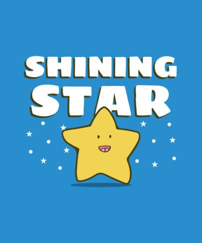 Kids T-Shirt Design Creator with a Doodle Star Graphic 416b-el1