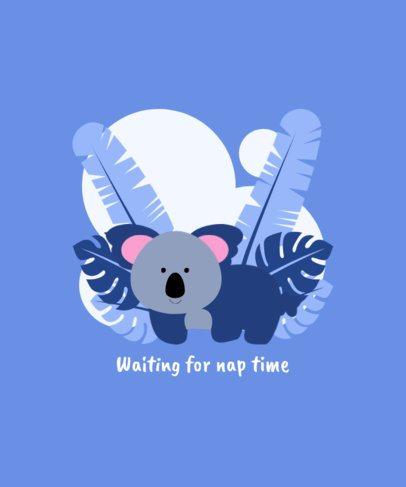 Kids T-Shirt Design Creator with a Baby Koala Illustration 409a-el1