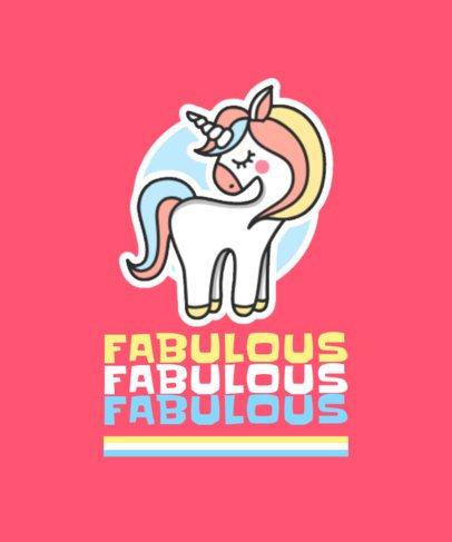 Colorful T-Shirt Design Creator Featuring a Unicorn 421c-el1