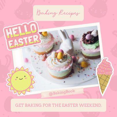 Instagram Post Generator Featuring Easter Baking Recipes 2323b