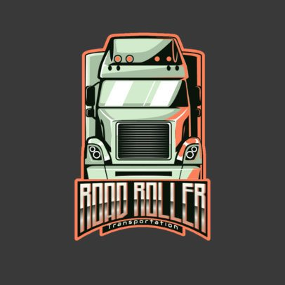 Trucking Company Logo Generator with a Frontal-View Truck 3014d