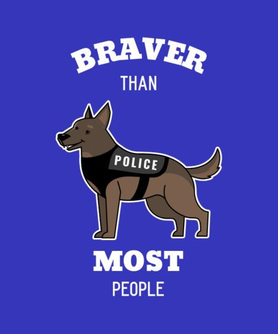 T-Shirt Design Creator Featuring a Smiling Police Dog 2317c