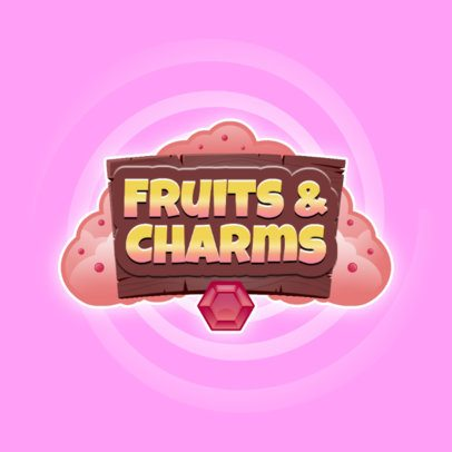 Magical Looking Logo Maker for a Fruity Mobile Game 3007e