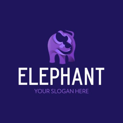 Elegant Logo Creator with an Elephant Icon 357b-el1