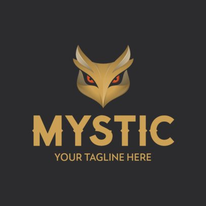 Logo Maker with a Mystic Owl Icon 342a-el1