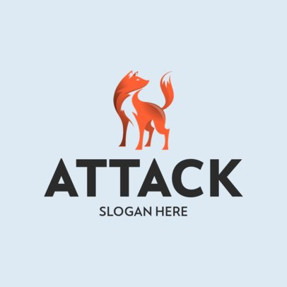 Logo Template with an Abstract Fox Graphic 368a-el1