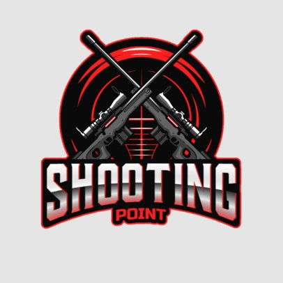 Gaming Logo Maker Featuring Two Sniper Rifles 3019i