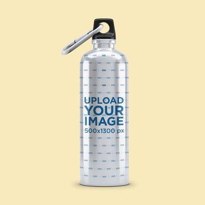 Aluminum Bottle Mockup Featuring a Plain Backdrop 3069-el1