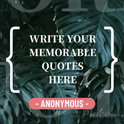 Instagram Video Maker Featuring a Memorable Quote 340