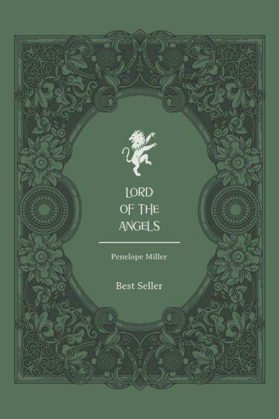 Fantasy Book Cover Maker Featuring a Classical Frame 498c-el1