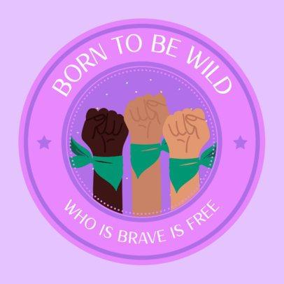 Sticker Design Maker with a Female Sorority Quote 2338e