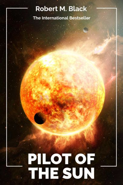 Book Cover Template for a Sci-Fi Novel with Planet Graphics 512-el1