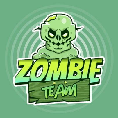 Logo Template for a Mobile Game App Featuring a Zombie 3043