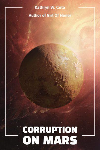Sci-Fi Book Cover Maker Featuring a Mars Background 512b-el1