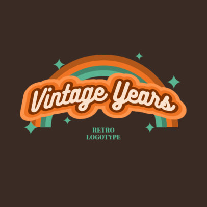 Logo Template Featuring a Colorful Retro Design 3029f
