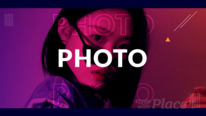 Video Maker for a Photo Slideshow Featuring Cool Animations 1324