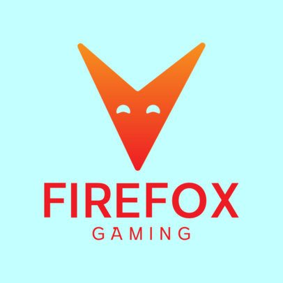 Gaming Logo Maker with a Minimalistic Fox Icon 3044d