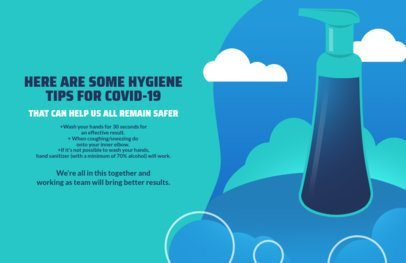Online Flyer Maker Featuring Hygiene Tips to Prevent COVID-19 1676f 2392