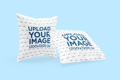 Mockup of Two Pillows with a Customizable Background 3263-el1