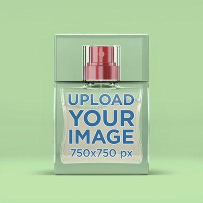 Mockup of a Rectangular Transparent Perfume Bottle 3286-el1