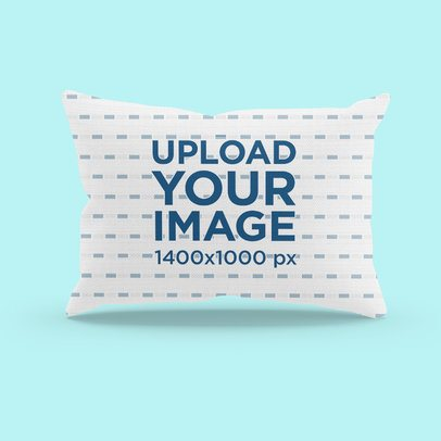 Simple Mockup of a Rectangular Pillow in a Customizable Setting 3246-el1