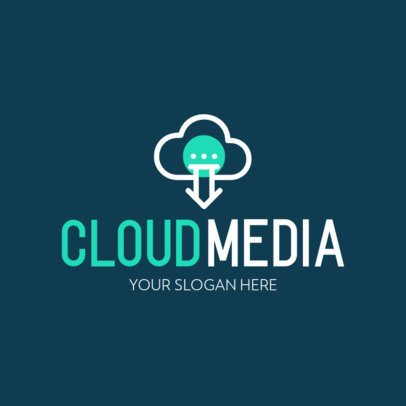 Logo Template for a Cloud-Based Company 594c-el1