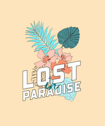 T-Shirt Design Template with a Tropical Theme 606-el1