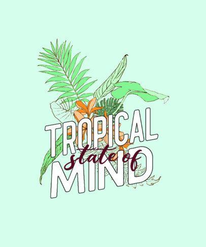 Tropical T-Shirt Design Maker Featuring a Quote 606a-el1