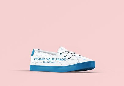 Shoe Mockup Featuring a Plain Background 3277-el1