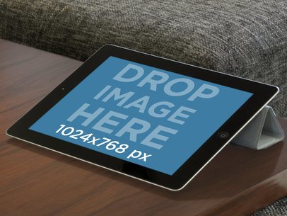 Black iPad Landscape Living Room Normal