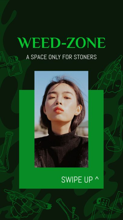 Instagram Story Creator for a Cannabis-Only Club 2373e