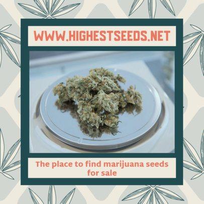 Marijuana-Themed Facebook Post Design Template 2375f