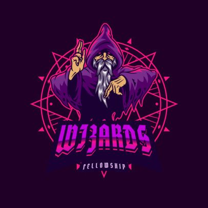Gaming Logo Creator Featuring a Wizard Clipart 3075f